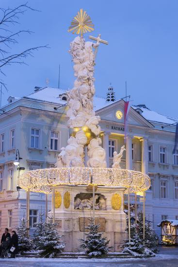 Plague Column, City Hall, Main Square, Baden Bei Wien, Lower Austria, Austria-Rainer Mirau-Photographic Print