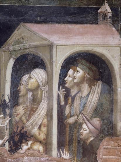 Plague, Detail from St Nicholas Receiving Cure for Possessed and Sick from Virgin, 1320-1325--Giclee Print