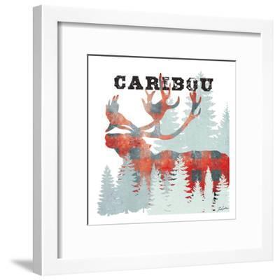 Plaid Caribou-Tina Carlson-Framed Art Print