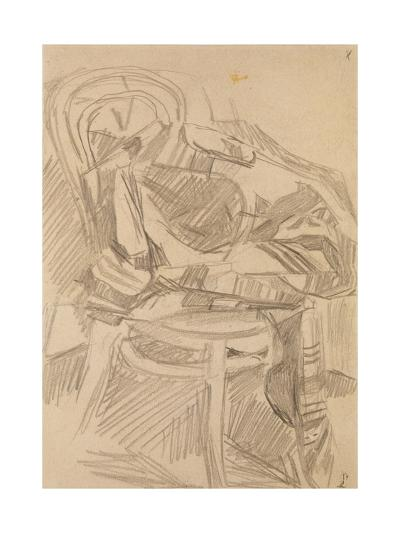 Plaid on the Chair, 1904-Mikhail Alexandrovich Vrubel-Giclee Print