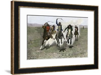 Plains Indians Horse-Racing, 1800s--Framed Giclee Print