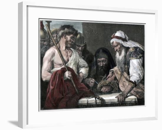 Plaiting the Crown of Thorns, 1875--Framed Giclee Print