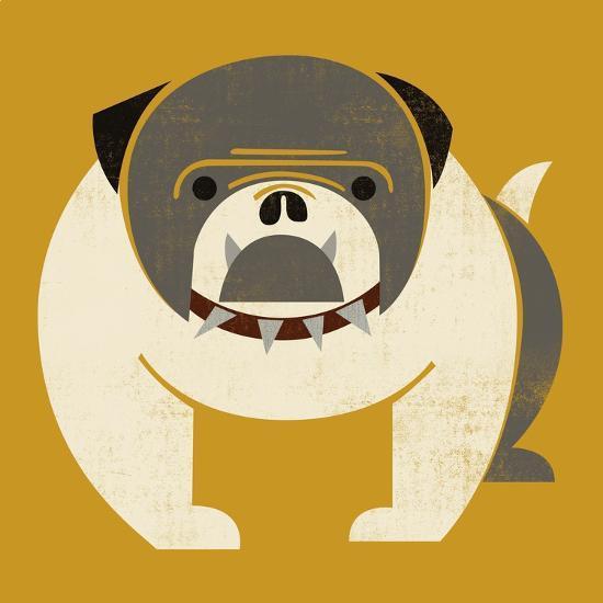 Plakastil Bulldog--Giclee Print