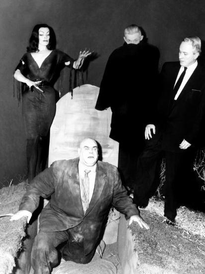 Plan 9 From Outer Space, Vampira, Tor Johnson, Dr. Tom Mason (Bela Lugosi's Double), Criswell, 1959--Photo