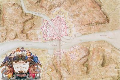 Plan and Map of the Town and Citadel of Bayonne-Sebastien Le Prestre de Vauban-Giclee Print