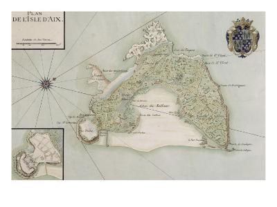 Plan de l'Ile d'Aix--Giclee Print