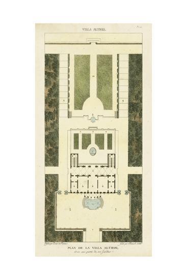 Plan de la Villa Altieri-Bonnard-Art Print