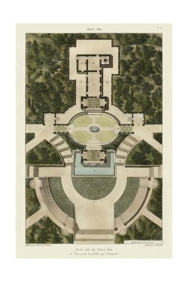 Plan De La Villa Pia-Bonnard-Art Print