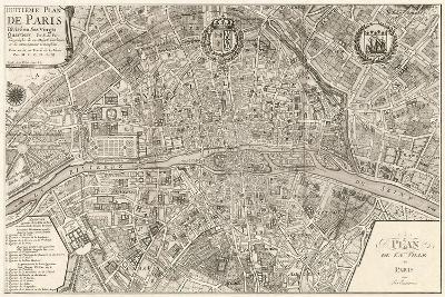 Plan de la Ville de Paris, 1715-Nicolas De Fer-Art Print