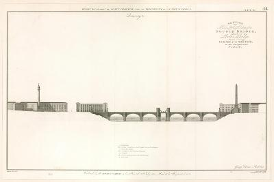 Plan for London Bridge Capable of Letting Ships Through--Giclee Print