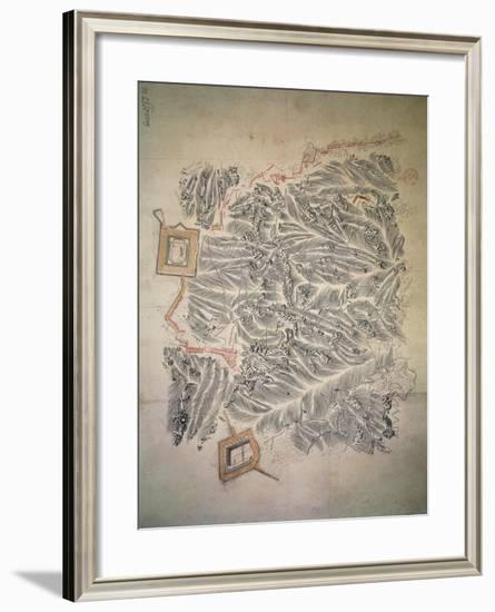 Plan for Rocca D'Anfo, Built by Francois Haxo Drawing, 1801-1802--Framed Giclee Print