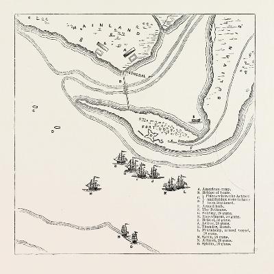 Plan of Attack on Sullivan's Island, from Faden's Atlas, USA, 1870S--Giclee Print