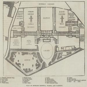 Plan of Bethlem Hospital, Wards, and Gardens