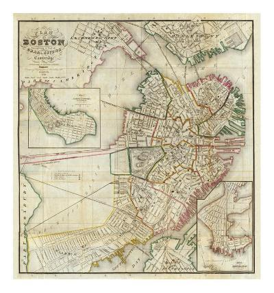 Plan of Boston Comprising a Part of Charlestown and Cambridge, c.1846-George G^ Smith-Art Print