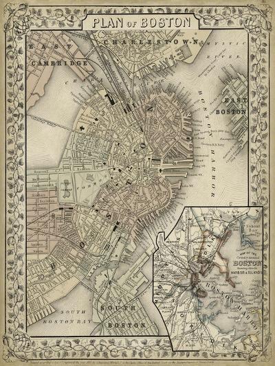 Plan of Boston-Mitchell-Art Print