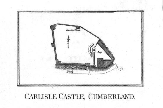 Plan of Carlisle Castle, Cumberland, late 18th century-Unknown-Giclee Print