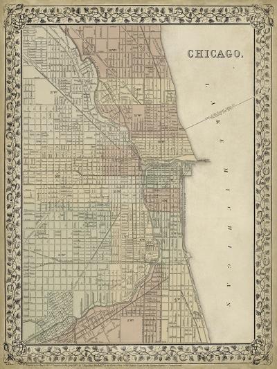 Plan of Chicago-Mitchell-Art Print