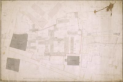 Plan of Christ's Hospital, Newgate Street, London and its Adjoining Estate, 1819--Giclee Print