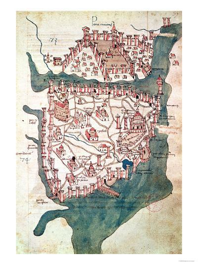 Plan of Constantinople--Giclee Print