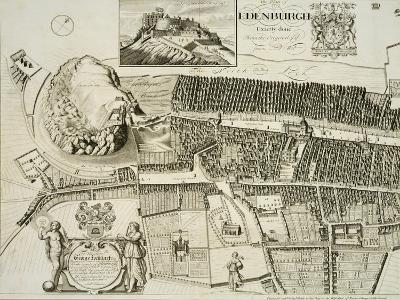 Plan of Edinburgh, Pub. by John Smith-Andrew Johnston-Giclee Print