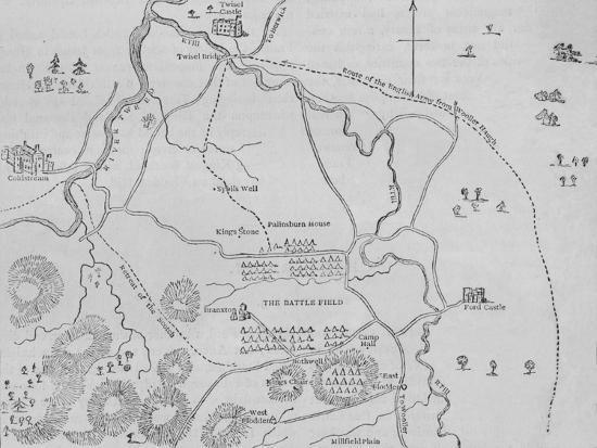 'Plan of Flodden Field', 9 September 1513, (c1880)-Unknown-Giclee Print