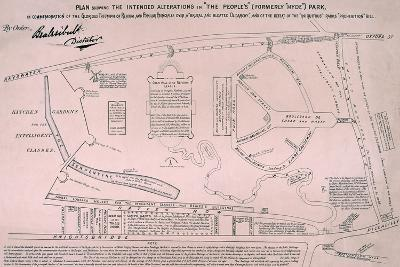 Plan of Hyde Park, 1867--Giclee Print