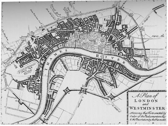 Plan of London and Westminster, 1749 (1903)-Unknown-Giclee Print