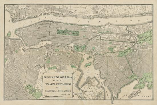Plan of New York-The Vintage Collection-Giclee Print