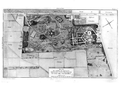 Plan of Parc Monceau in Paris Belonging to the Duke of Chartres 1785-Louis Carrogis Carmontelle-Giclee Print