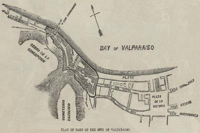 Plan of Part of the City of Valparaiso--Giclee Print