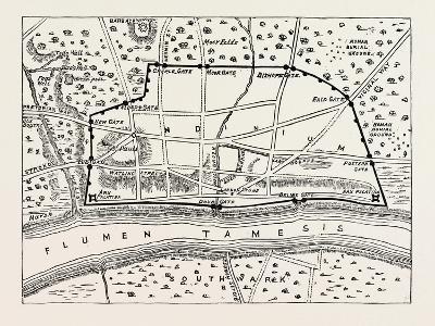 Plan of Roman London--Giclee Print