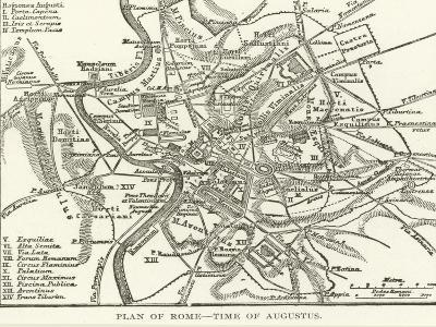 Plan of Rome, Time of Augustus--Giclee Print