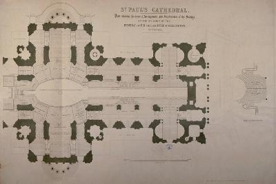Plan of Seating Arrangements for the Duke of Wellington's Funeral, 1852--Giclee Print