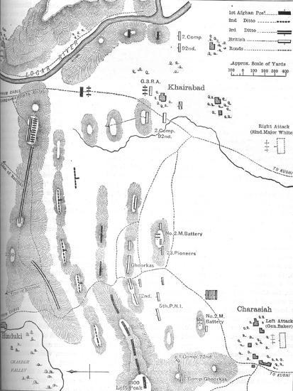 'Plan of the Battle of Charasiah, (Oct. 6, 1979)', c1880-Unknown-Giclee Print