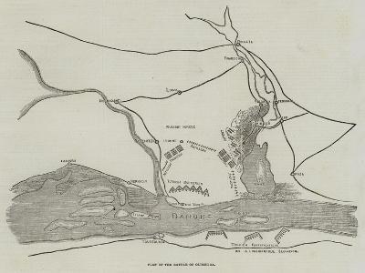Plan of the Battle of Oltenitza--Giclee Print