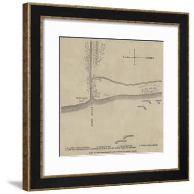 Plan of the Bombardment and Capture of Redout Kaleh--Framed Giclee Print