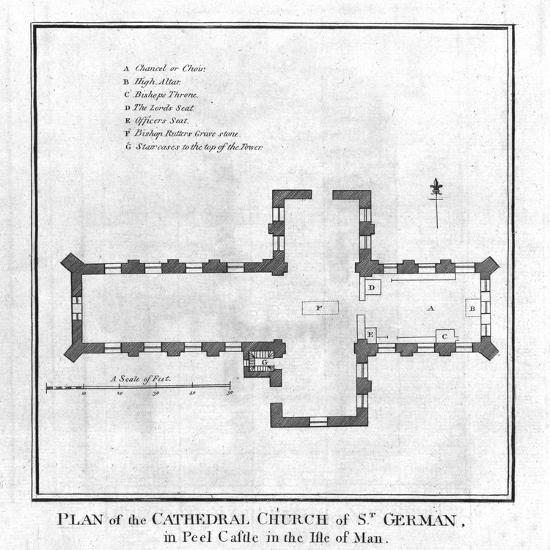 'Plan of the Cathedral Church of St. German', late 18th century-Unknown-Giclee Print