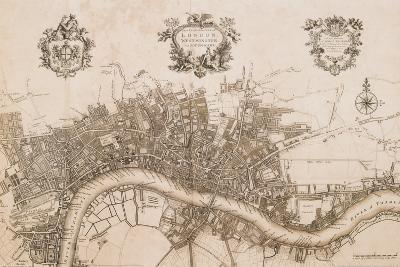 Plan of the City of London, 1720-John Stow-Art Print