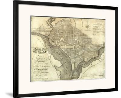 Plan of the City of Washington, c.1795-John Reid-Framed Art Print