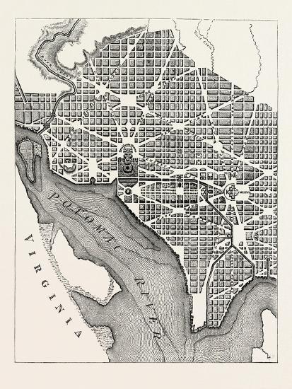 Plan of the City of Washington--Giclee Print