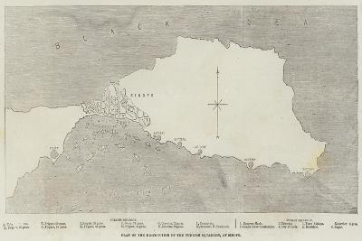 Plan of the Destruction of the Turkish Squadron, at Sinope--Giclee Print