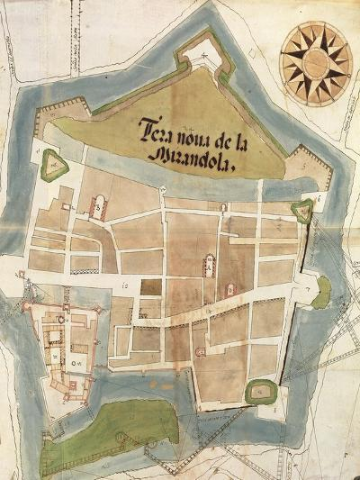 Plan of the Fortress of Mirandola, Lombardy Region--Giclee Print