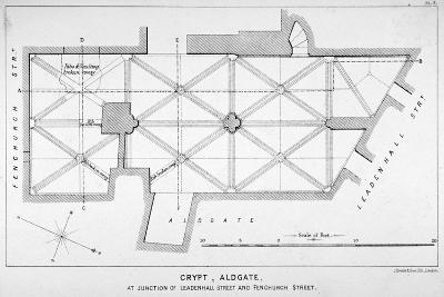 Plan of the Groining for St Michael's Crypt, Aldgate Street, London, C1830-J Emslie & Sons-Giclee Print