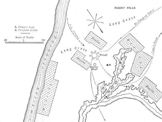 'Plan of the Ground Where Prince Louis Napoleon was killed, (June 1, 1879)', c1880-Unknown-Giclee Print