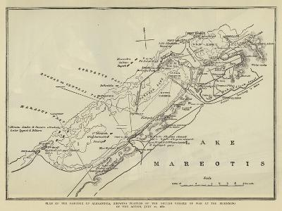 Plan of the Harbour of Alexandria--Giclee Print