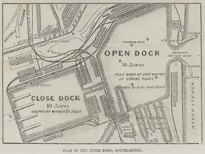 Plan of the Inner Dock, Southampton