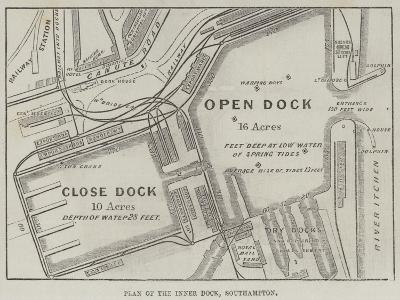Plan of the Inner Dock, Southampton--Giclee Print