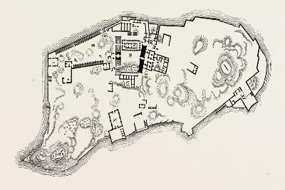 Plan of the Island of Philae. Egypt, 1879--Giclee Print