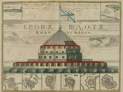 Plan of the Kronstadt Fortress, 1750-Johann Baptist Homann-Giclee Print