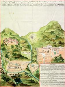 Plan of the Mines of Oaxaca, Mexico, 1785-87